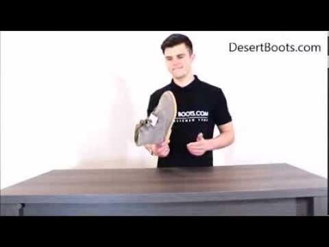 Roamers Mens 4 Eyelet Ghillie Tie Desert Boots Taupe