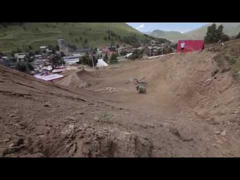 Huge crash - Nicholi Rogatkin at Crankworx Les 2 Alpes 2014