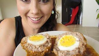 Albondigas rellenas de huevo