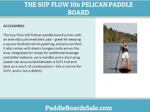 The Sup Flow 106 Pelican Paddle Board – Video Review