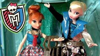 Monster High Elsa & Anna Makeover From Frankie Stein