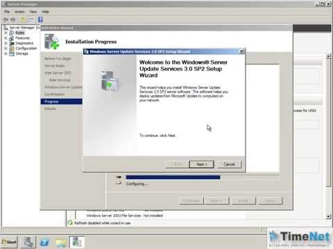 How to Configure Windows Server Update Services on Windows Server 2008 R2?