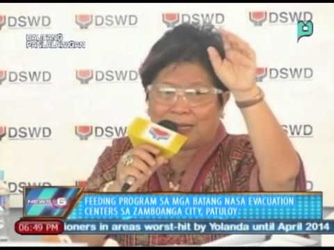 Feeding program sa mga batang nasa evacuation centers sa Zamboanga City, patuloy