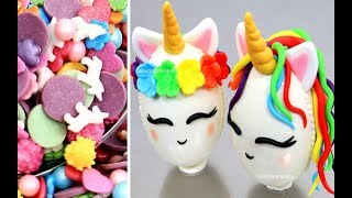 DIY UNICORN TREATS | How to make Unicorn Surprise Eggs by Cakes StepbyStep