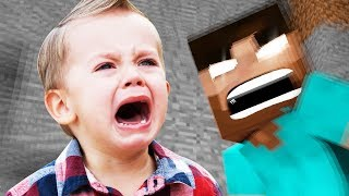 Minecraft Trolling: 7 YEAR OLD TROLLED BY HEROBRINE ON