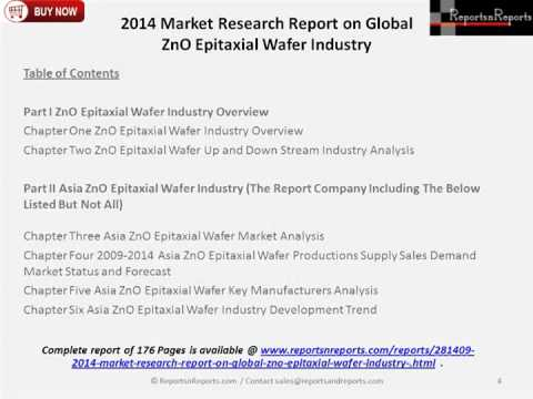 2014 Market Research Report on Global ZnO Epitaxial Wafer Industry