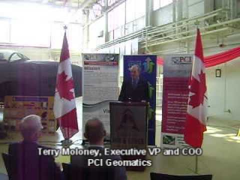 PCI Geomatics - SADI Press conference announcing $7.6 Million investment from Industry Canada