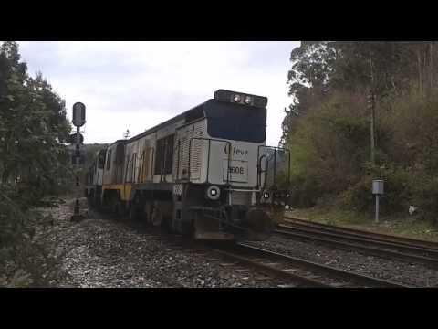 Trenes mercancías Feve y maniobras en Xove