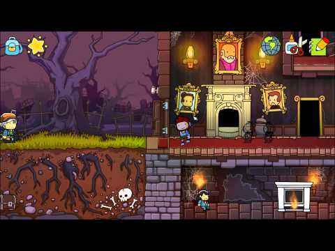 Let's Play Scribblenauts Unlimited Part 20 - Grave Manor