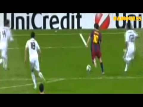 Lionel Messi Goal solo vs Real Madrid  Champions League 2011