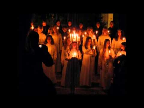Swedish choir - St. Lucia songs (Bruxelles) 2013