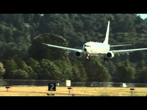 Indian Navy INS Boeing P-8i Poseidon Aircraft - launch and recovery