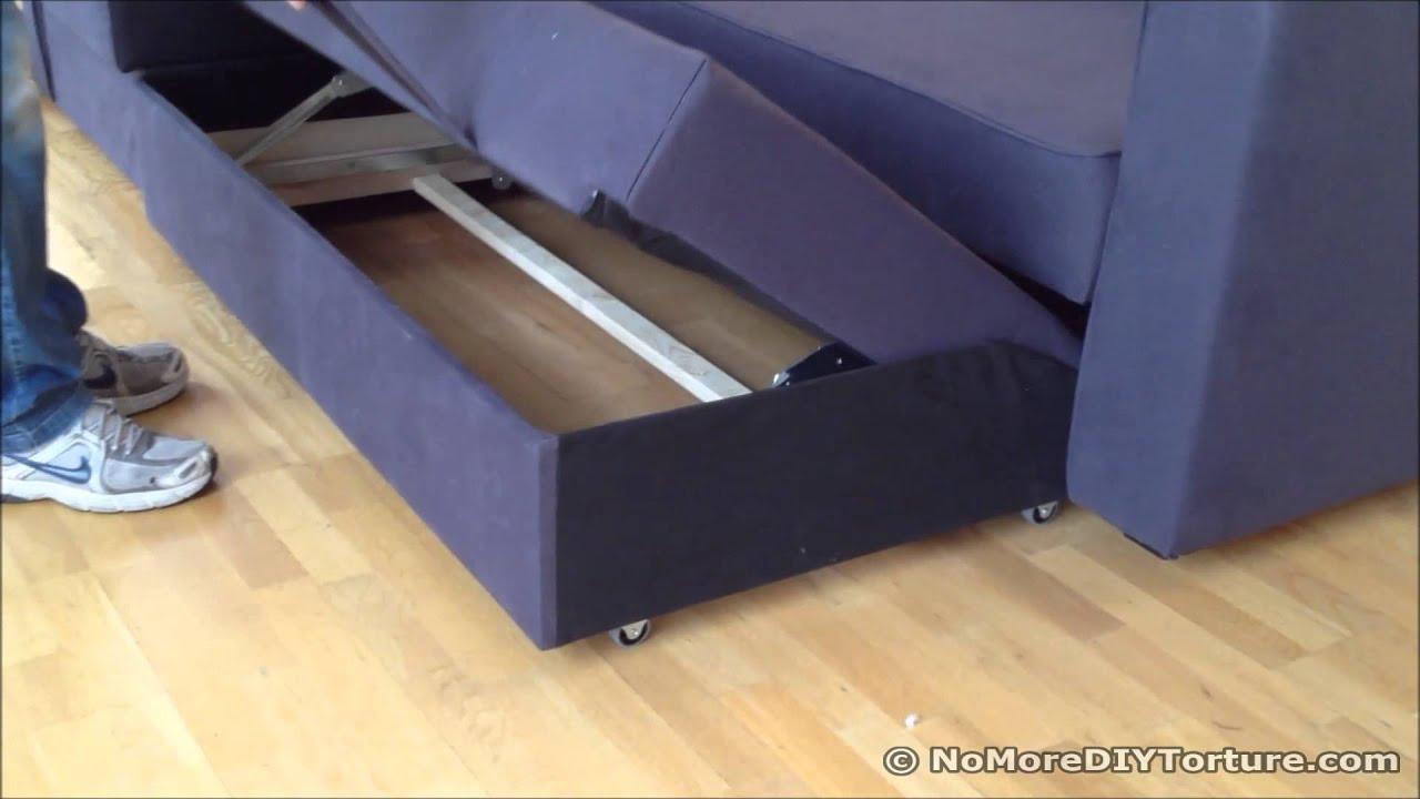Ikea Esstisch Weiss Hochglanz ~ Ikea Sofa Bed Video Friheten Corner Sofa Bed Sofa Chaise Longue With