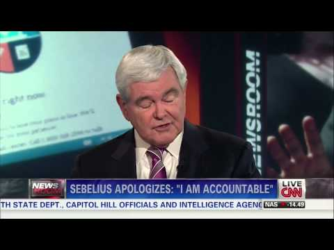 Extended Cut: Van Jones and Newt Gingrich on Sebelius's Testimony (part 1/3)