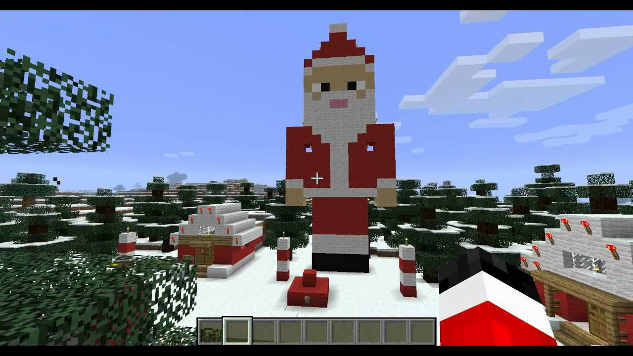 Day 7 Santa Statue - 12 Days of Minecraft Christmas - YouTube