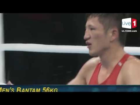 Quyền anh nam hạng cân 56 kg, vòng 16  Hàn Quốc vs Trung Quốc, Kazakhstan vs Uzbekistan