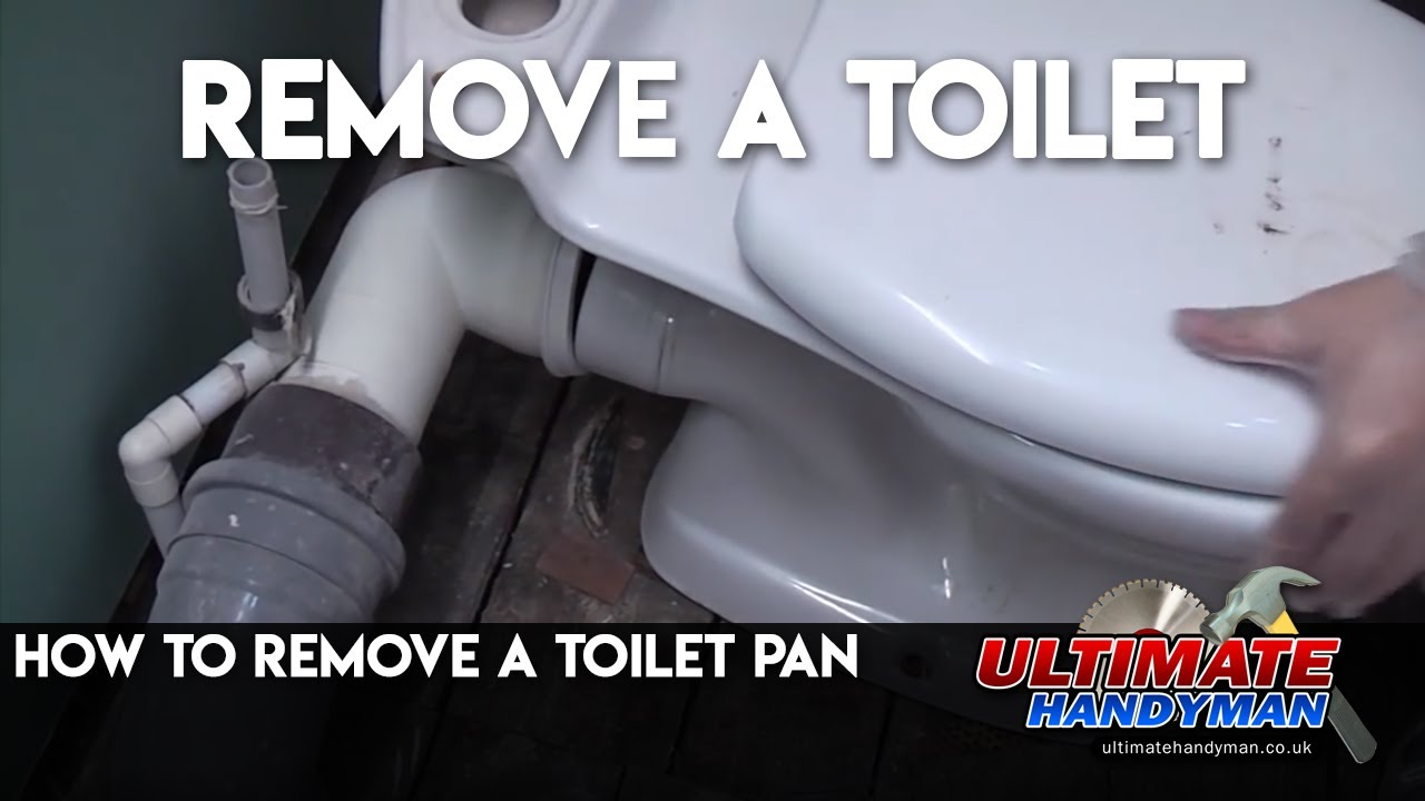 how to remove a toilet pan youtube. Black Bedroom Furniture Sets. Home Design Ideas