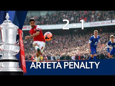 MIKEL ARTETA GOAL: Arsenal vs Everton 4-1 FA Cup Sixth Round HD