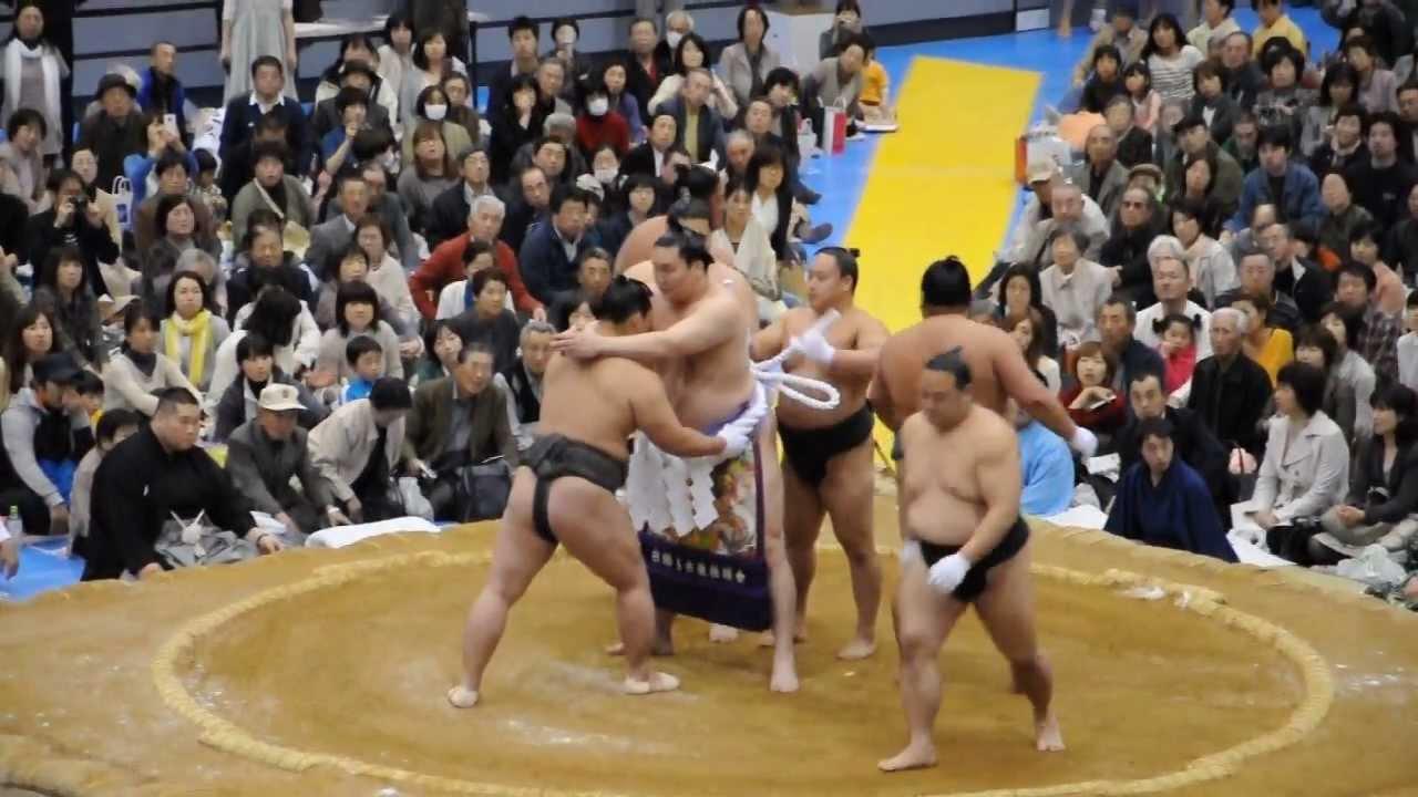 20130413 大相撲アオーレ長岡場所 横綱 白鳳