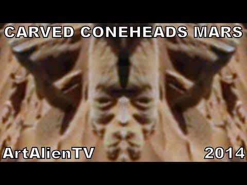 Mars Carved Cone-head Statues: Latest from MARS ZOO 2014: