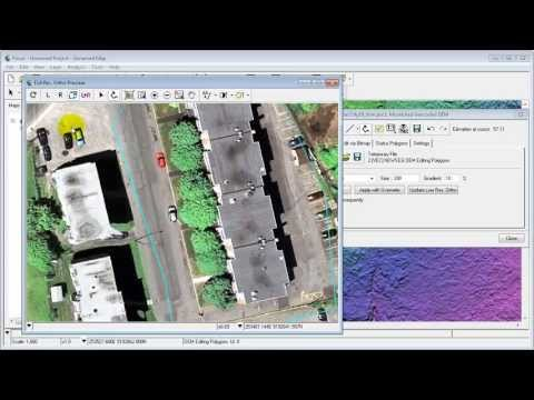 Real time DSM Editing with Ortho Preview - Industrial Buildings