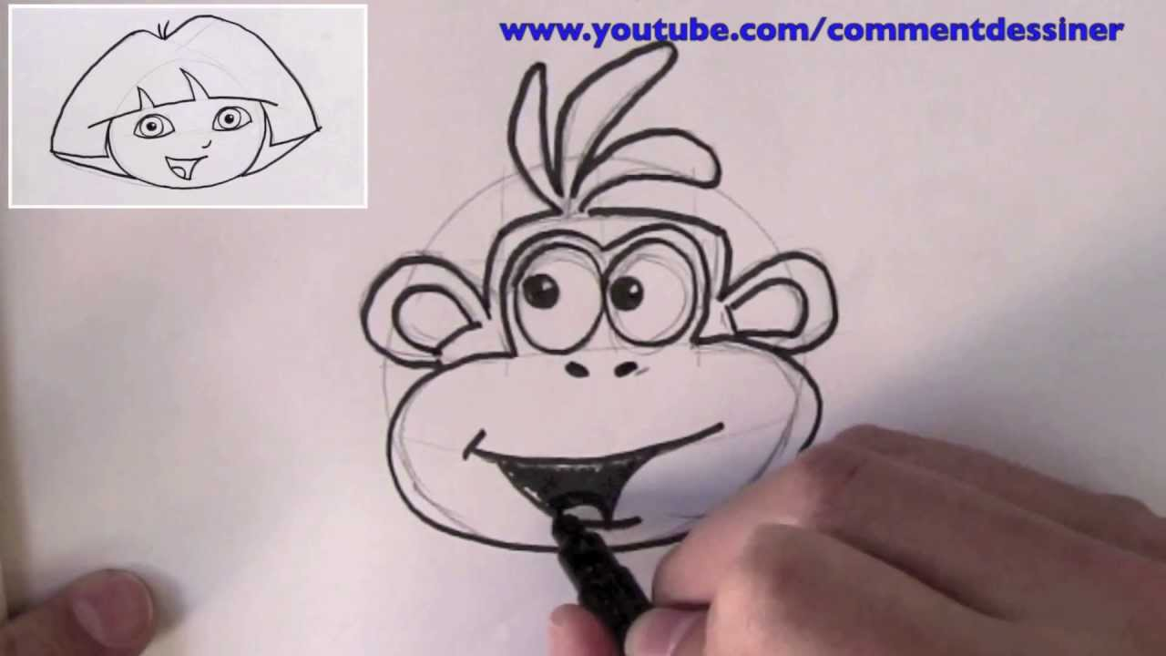 Comment dessiner babouche le singe de dora l 39 exploratrice youtube - Dessiner dora ...