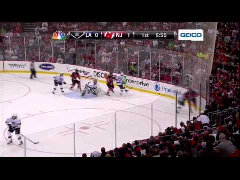 Zach Parise PPG goal. LA Kings vs New Jersey Devils Stanley Cup Game 5 6/9/12 NHL Hockey.