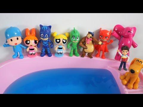 Ten Pocoyo Masha Jumping on the Pool - Funny Heros Nursery Rhymes Collection
