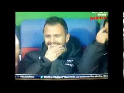 Cagliari Juventus 1 4 Pepe e Pirlo prendono per il culo Conte dalla panchina