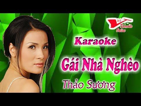 Karaoke Gai Nha Ngheo - Thao Suong (Beat Chuẩn)