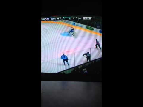 Winnipeg Jets vs San Jose Sharks 1/23/2014 part 4