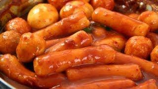 Spicy rice cake (Tteokbokki: 떡볶이)