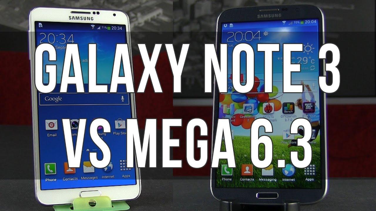 Galaxy note 2 vs galaxy mega