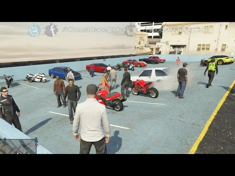 Grand Theft Auto V Online (PS3) | Street Car/Bike Meet | Hakuchou Build, Drag Racing & More
