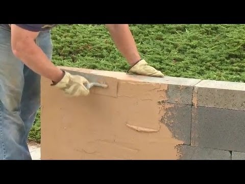 How To Build A Block Wall Without Mortar Youtube