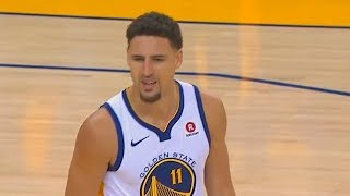 Klay Thompson Gets Technical Foul For No Reason! Warriors vs Spurs