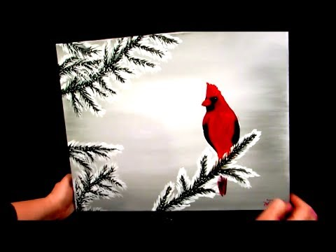 How To Paint Cardinals With Acrylics