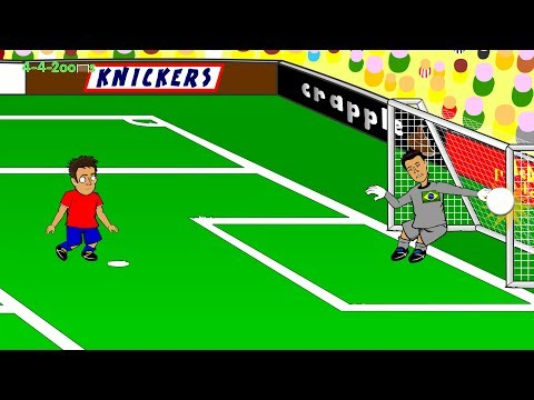 BRAZIL PENALTY SHOOTOUT Brazil v Chile 1-1 Highlights 28.6.14by 442oons (World Cup Cartoon)