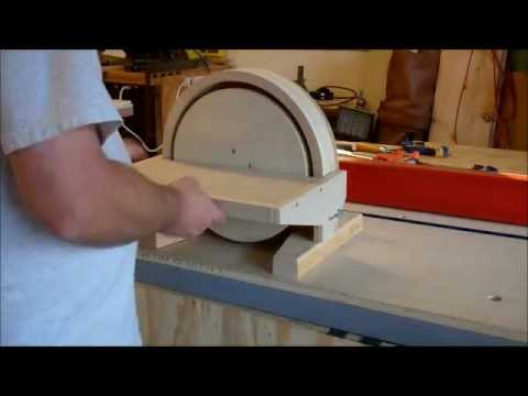 Building a disc sander youtube for 10 sanding disc for table saw