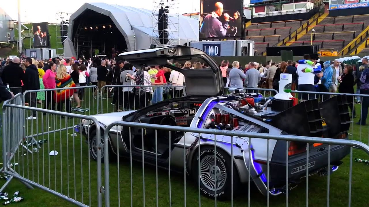 Delorean Hire in Yorkshire UK - Back To The Future Car - BTTF Car - YouTube