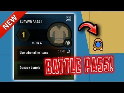 Surviv.io BATTLE PASS *NEW* COSMETICS UPDATE! (Surviv.io Levelling Up & Funny Highlights)