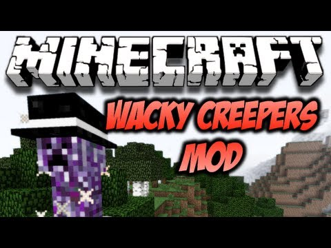 Minecraft Wacky Creepers Mod - ADDS 6 NEW CREEPERS! (HD)