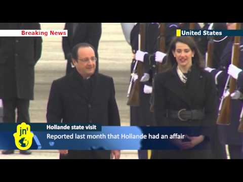 Flying solo: Hollande arrives in the US for state visit without first lady