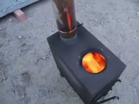 Чертежи печи на отработке с водяным контуром