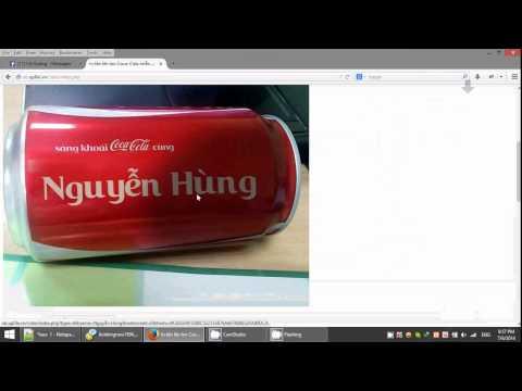 Cách in tên lên lon Coca Cola tại leorius.com khi quá tải