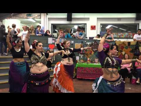 Resham-Ka Tribal ATS belly dance at Fusion Sundays market, Dublin - Part 1