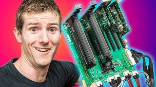 Building the $100,000 PC Pt. 2 - SO MANY PCIe CARDS