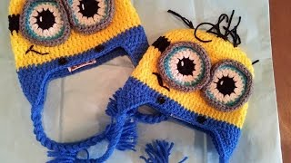Tutorial How To Crochet 9-12 Month Old Minion Beanie. By
