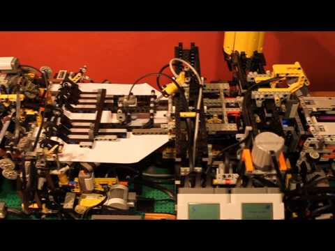 Lego paper plane folding machine V2.0