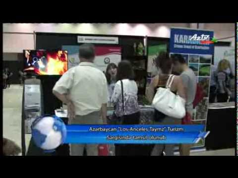 Azerbaijan presented at Los Angeles Times Travel Show 2014 (AzTV report in Azerbaijani)